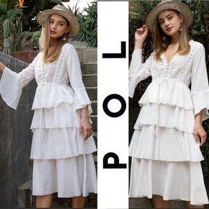 POL Romantic White Lace Dress